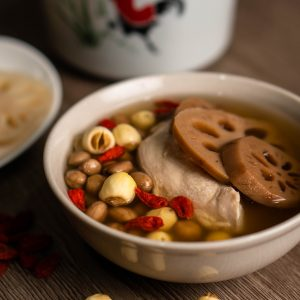 莲藕花生炖鸡汤 Lotus Root Soup with Chicken & Peanut 380g